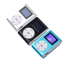 $enCountryForm.capitalKeyWord Canada - Wholesale- Mini USB Metal Clip MP3 Player LCD Screen Support 32GB Micro SD TF Card Slot Digital mp3 music player wholesale