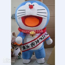 doraemon costumes Canada - High Quality Lovely A Dream Doraemon Cat Mascot Cartoon Costume Halloween Christmas Costume Fancy Dress
