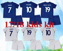 ... new 2017 2018 Chelsea soccer jersey kids kit 17 18 HAZARD HOME KANTE  DIEGO COSTA FABREGAS New Chelsea Home blue ... b5b4d10b9