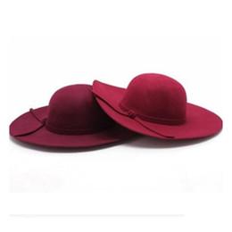 Ladies fashion floppy winter hat wide brim large derby hat Fashion  customize winter ladies red wool felt hat High Quality Autumn hat 78d16c73cee