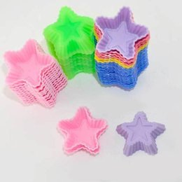$enCountryForm.capitalKeyWord Canada - Delicate 10pcs New Star-Shape Chocolate Cookie Cake jelly Soap Silicone Baking Molds
