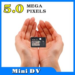 5mp Hd Digital Camera Canada - Wholesale- Newest Smallest new Mini DV DVR 5MP HD Digital Camera Video Audio Recorder Webcam Motion Detect Actived Camcorder For Motorbike