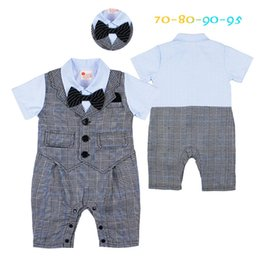 $enCountryForm.capitalKeyWord Canada - summer baby boy clothes infant boy rompers toddler boys jumpsuits infant boys birthday suit bow party wedding suit newborn wears