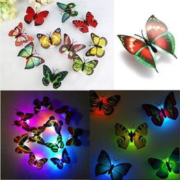 $enCountryForm.capitalKeyWord NZ - Lovely Creative Color Changing ABS Butterfly LED Night Lights Lamp Beautiful Home Decorative Wall Nightlights Random