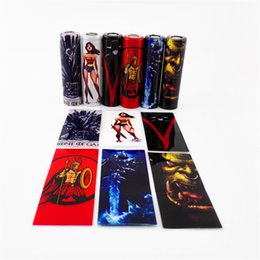Discount stickers game thrones - Game of Thrones Wonder Woman Spartacus Lich King Orcish 18650 Battery PVC Skin Sticker Vaper Wrapper Cover Sleeve Wrap H