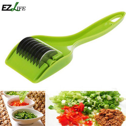 Onion Cutter Chopper Canada - Stainless Steel Multi Function Onion Chopper Cutter Slicer Garlic Coriander Vegetable Cutter Kitchen Accessories Gadgets KT1018