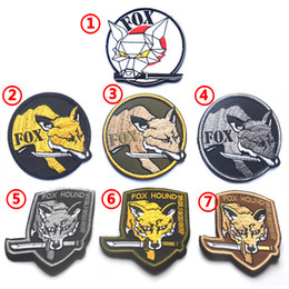 $enCountryForm.capitalKeyWord UK - MGS Metal Gear Solid Fox Hound Morale Tactical 3D PVC Patch Outdoor Embroidery Patch Army 3D Cloth Armband Badge free ship 008