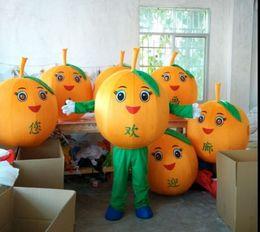 Orange Halloween Costumes Canada - New orange watermelon mascot costumes props costumes Halloween free shipping