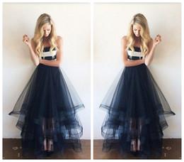 bd7af51599 Nueva llegada faldas de organza Sheer moda falda de las mujeres 3 capas de  longitud larga falda de tul por encargo venta de fábrica negro faldas de tul