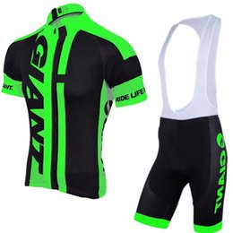 $enCountryForm.capitalKeyWord Canada - 2018 summer TEAM giant cycling jersey 3D gel pad bib shorts Ropa Ciclismo pro cycling clothing mens summer bicycle Maillot Suit L1403