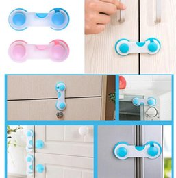 Barato Fechadura De Segurança Do Armário Para O Bebê-Bloqueio de segurança para crianças Sacos de porta de plástico Guarda-roupa Todder Kids Baby Cabinet Lock Child Care Safe Safety Lock KKA2176