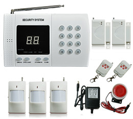 Detection Systems Security Canada - Wireless Home office house PIR Motion Infrared detection Security Burglar Alarm System 2x Window Door sensor Auto Dialing Easy DIY
