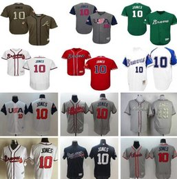 2017 wbc usa 10 chipper jones world baseball classic atlanta braves jerseys red