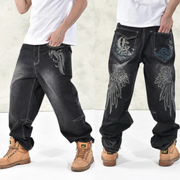 $enCountryForm.capitalKeyWord Canada - NEW Fashion Baggy style men's jeans hip hop dancers loose big size jeans boys skateboard jeans rap plus size 30-46