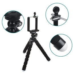 Iphone Clips For Tripods Canada - Hot Octopus Sponge Flexible MINI Tripod Digital Camera Holder Mount Clip For Canon Stand Mount For Iphone 7 6S 5 Plus Gorrila Tripods