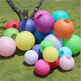 Discount lanterns chinese - Free Shipping 4 Inch (10CM) New Design Small Chinese Paper Lanterns for Wedding Christmas party decorations Supplies