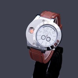 Watch Lighter 2 In 1 con scatola al dettaglio Ricaricabile Accendino elettronico USB Carica Orologi da polso senza fiamma Accendini Regali aziendali in Offerta