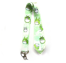 totoro mobile UK - Wholesale Mixed 10 pcs Popular Cartoon My Neighbor Totoro Mobile phone Lanyard Key Chains Pendant Party Gift Favors 0074