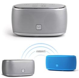 Hi Fi Speaker Boxes Canada - Wholesale- Super Bass HI-FI Mini Wireless Stereo incredible smart speaker bluetooth 4.0 speaker 3D sound with NFC 1+1 T30