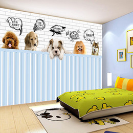 wood dog houses Canada - custom 3d photo wallpaper mural bed room HD wallpaper cute pet dog 3d painting sofa TV background wall home decor murals