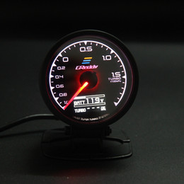 62 mm 2.5 pulgadas 7 colores en 1 Racing GReddy Multi D / A Pantalla digital LCD Turbo Boost Gauge Auto Gauge Sensor