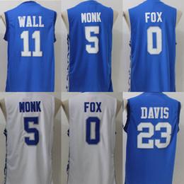 Stitched Swingman 2017 Kentucky Wildcats College Basketball Jerseys Mens 5  Malik Monk 0 Wildcats 11 John Wall ... d0920f814