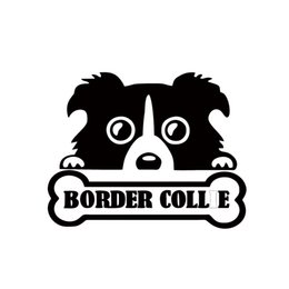 $enCountryForm.capitalKeyWord Canada - Hot Sale Personality Style Car Sticker Cute Border Collie Dog Cool Pet Peeking Dog Car Window Decal