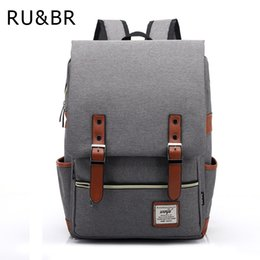 879a98ee735 Wholesale- RU BR Fashion Women Bags Canvas Backpack Men Oxford Travel  Backpacks Retro Casual Backpacks School Bags For Teenagers