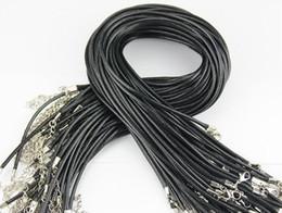 Envío libre Collar de cuero de cera hebilla de la correa de camarón colgante Accesorios de la joyería Cuerda de cuero cordón con componentes de cadena DIY en venta