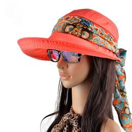 Anti Uv Sun Visor Canada - Sun Hats Summer hats for women beach hat sun visor hat visor,new fashion visors cap sun collapsible anti-uv hat