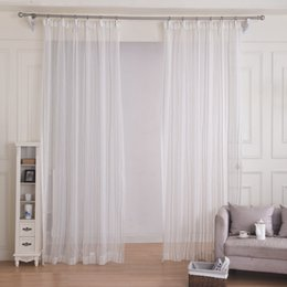 free shipping white sheer curtains for living room voile tulle curtain for windows fabric