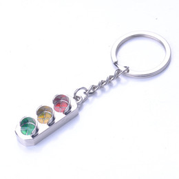 April ring online shopping - Traffic Light Keychain Originality Metal Texture Of Material Car Key Ring Wedding Favors Ornaments Durable Buckle Hot Sell bs J1
