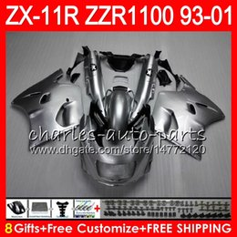 Fairings For kawasaki ninja 1994 online shopping - 8Gifts For KAWASAKI NINJA ZX11 ZX11R ZZR NO15 Silver black ZZR1100 ZX R ZX Fairing