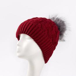 $enCountryForm.capitalKeyWord Canada - New Add Lining Knitted Winter Hats Women Warm Fur Pompom Cap Skullies &Beanies For Women High Quality Girls Hats