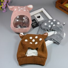 $enCountryForm.capitalKeyWord NZ - INS Baby Sika deer Knitted Caps Cute Rabbit Ears Hats Costume Crochet Knitting Winter Hat Infant Girls Boys Photography Props Hats LC643