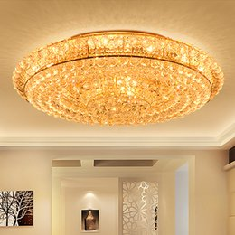 LED Crystal Chandeliers Factory Supply Noble Round High Class K9 Chandelier Hotel Lobby Villa Led Pendant Free Bulbs