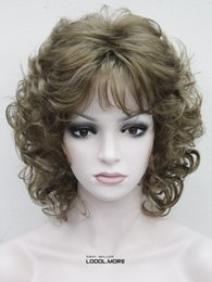 $enCountryForm.capitalKeyWord Canada - free shipping charming beautiful new Hot sell Best Hivision Light Golden Brown Short Curly Women ladies Daily Synthetic Fluffy Wig