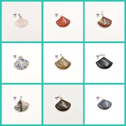 $enCountryForm.capitalKeyWord NZ - Natural stone tiger eye stone crystal gemstone pendant treatment stone mixed color wholesale sector pendant necklace free shipping