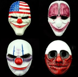 wholesale halloween horror mask game payday 2 halloween mask collection fashion game marsk gift for boy hot sell - Halloween Fashion Games