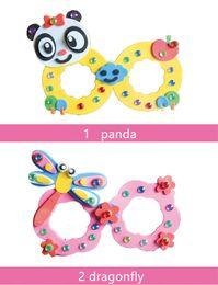 $enCountryForm.capitalKeyWord Canada - Cartoon Eva Foam Sticker Glasses DIY Craft Kit Creative Kindergarten Educational Toys for Kids Birthday Party