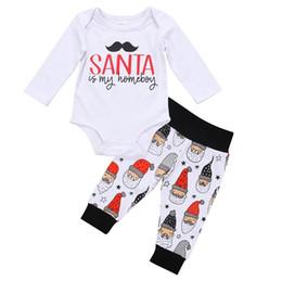 71cc8d950 2017 Christmas Clothing Sets Boys Girls Baby Rompers Pants 2Pcs Set Santa  Claus Newborn Onesies Cotton Toddler Romper Infant Clothes