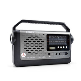 Sw Pack Australia - Wholesale-Original Degen DE319A High Sensitivity FM AM MW SW Radio world band receiver with light For The Elderly Free Shipping