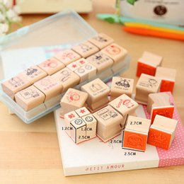 Teachers sTamps online shopping - set Cartoon Mini Teachers teaching comments encourage children stamp wooden rubber stamp gift box sets Crafts gifts