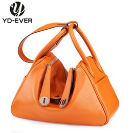 China Wholesale- 2016 new 100% First Layer genuine Leather women Handbags doctor fashion messengers Bags Luxury famous brand Shoulder Bag cheap camel leather tote suppliers