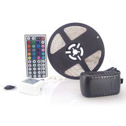 $enCountryForm.capitalKeyWord Canada - RGB LED Strip 3528 SMD 150 Meter 30rolls 300leds Flexible Waterproof +44key IR Remote connector + 12V 2A Power With Plug