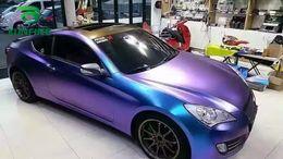 wrap car pvc film 2018 - Car Styling Wrap Purple Charm Blue Car Vinyl film Body Sticker Car Wrap With Air Free Bubble For Vehiche Motorcycle 1.52