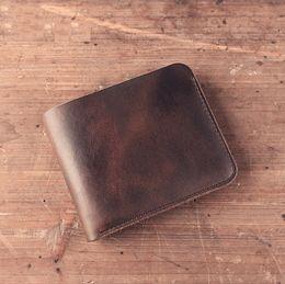 Horse credit card wallet online shopping - Man men wallet casual fashion vintage crazy horse leather split cowhide leather