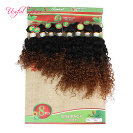curly chinese hair extensions UK - 8pcs lot human hair extensions 250g kinky curly hair Blonde Extensions weaves closure,burgundy color weave bundles for black women marley