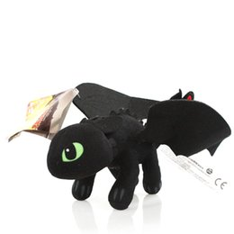 Discount children's train toys How to Train Your Dragon 2 Action Figures Toys 23cm Night Fury Plush Toys Toothless Dragon Toys for Children Kids