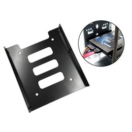 inch hard drives 2019 - Wholesale- Professional 2.5 Inch To 3.5 Inch SSD HDD Metal Adapter Rack Hard Drive SSD Mounting Bracket Holder For PC Bl